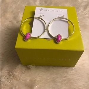 NWT Pink Hoop Kendra Scott Earrings